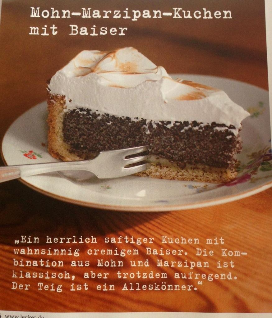 Rezept Mohn Marzipan Kuchen Mit Baiser Loveluxuryandmore